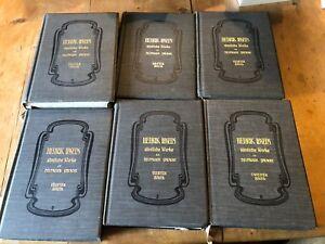Details About Henrik Ibsens Samtliche Werke In Deutscher Sprache 1898 1903 9 X Hardback Books