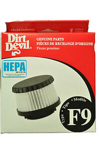 Dirt Devil Type F9 Hepa Vacuum Filter 3DJ03600-000, RO-DJ0360