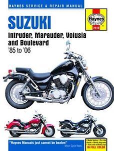 Suzuki-Intruder-Marauder-Volusia-Boulevard-Manual-85-04-Owners-Shop-Book-Service