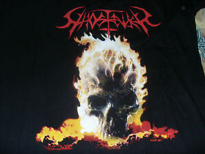 GHOSTRIDER T-shirt Necrodeath Thrash Metal Taglia L