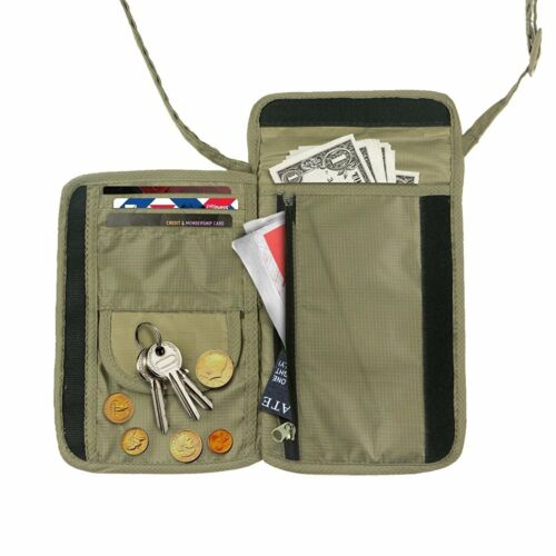 Neck Pouch Money Belt Wallet for Passport Carrying and Valuables Hiding