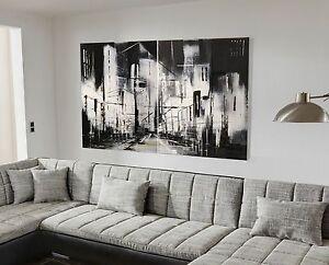 xxl bild set abstrakt 150x100 leinwand gem lde schwarz weiss malerei ikea neu ebay. Black Bedroom Furniture Sets. Home Design Ideas