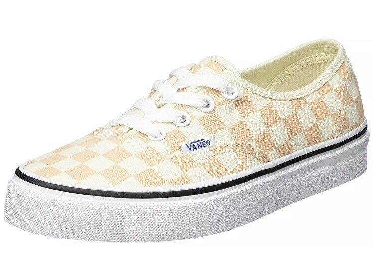 * Vans Uomo 8 Donna 9.5 Authentic Checkerboard Apricot Ice  Shoes Check
