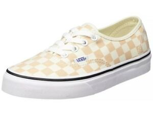 703970e9d1 Vans Mens 10.5 Womens 12 Authentic Checkerboard Apricot Ice Sneakers ...