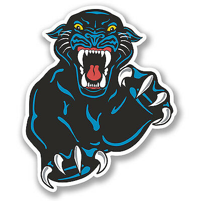 2 x Black Panther Vinyl Sticker Laptop Travel Luggage Car #5784