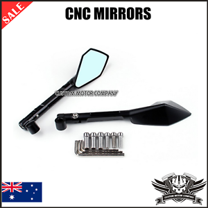 10mm 8mm Motorcycle Aluminum CNC Black Rear view Mirrors For Yamaha MT09 MT07