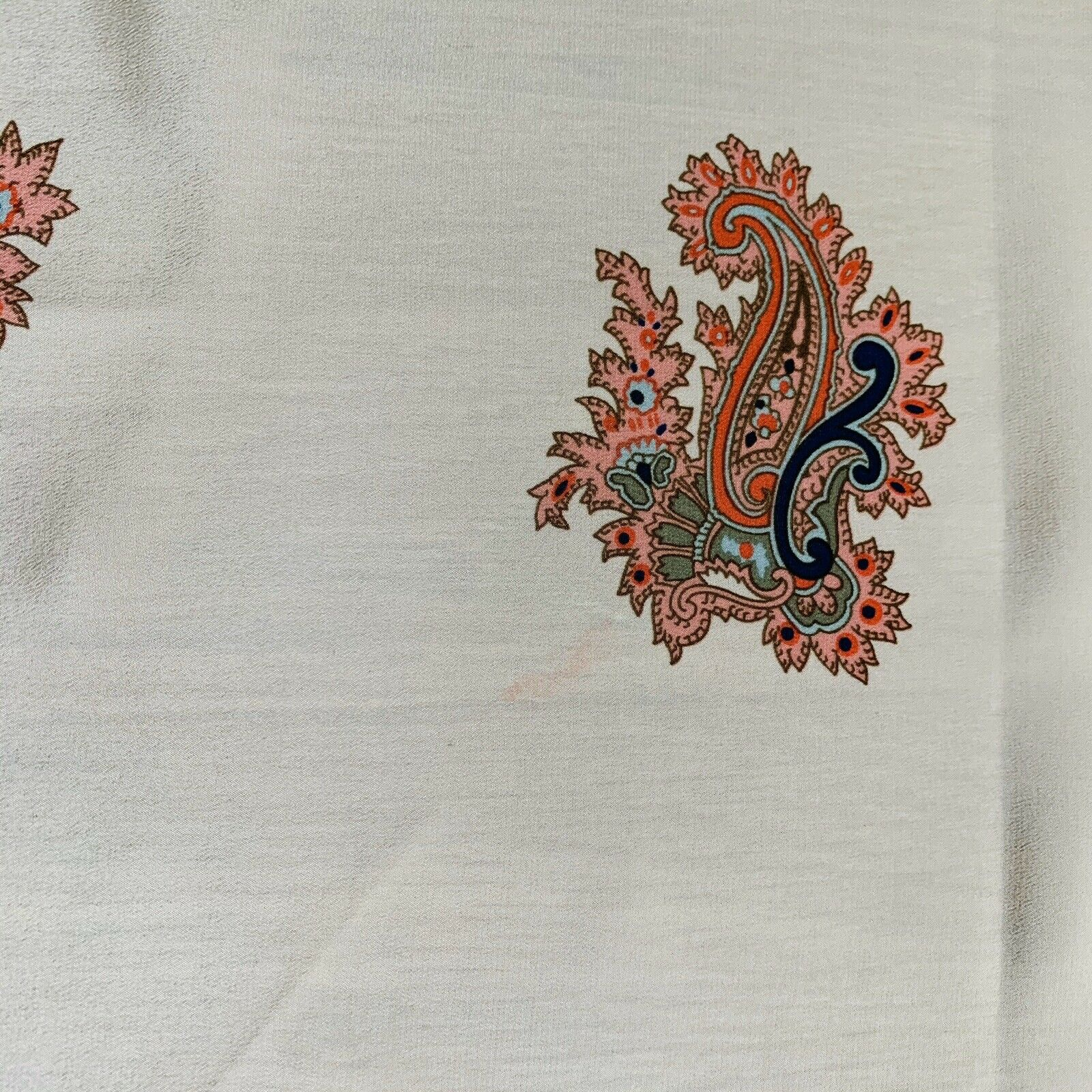 Christopher & Banks Square Paisley Beige Scarf 34… - image 4