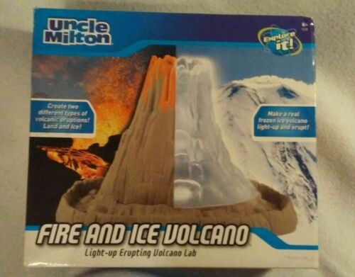 Uncle Milton FIRE AND ICE VOLCANO  Light-up erupting Volcano Lab    NRFB