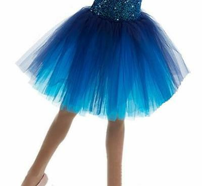 MIDNIGHT Ballet Romantic Tutu ONLY Costume Dance Navy Turq. Tulle Mix N Match