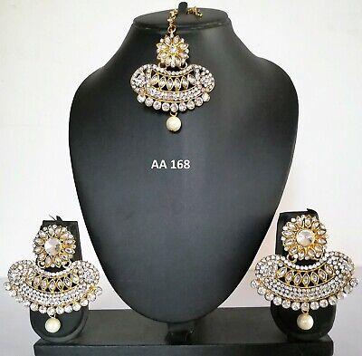 Indian Maang Tikka Earrings Cz Fashion Jewelry Wedding Traditional
