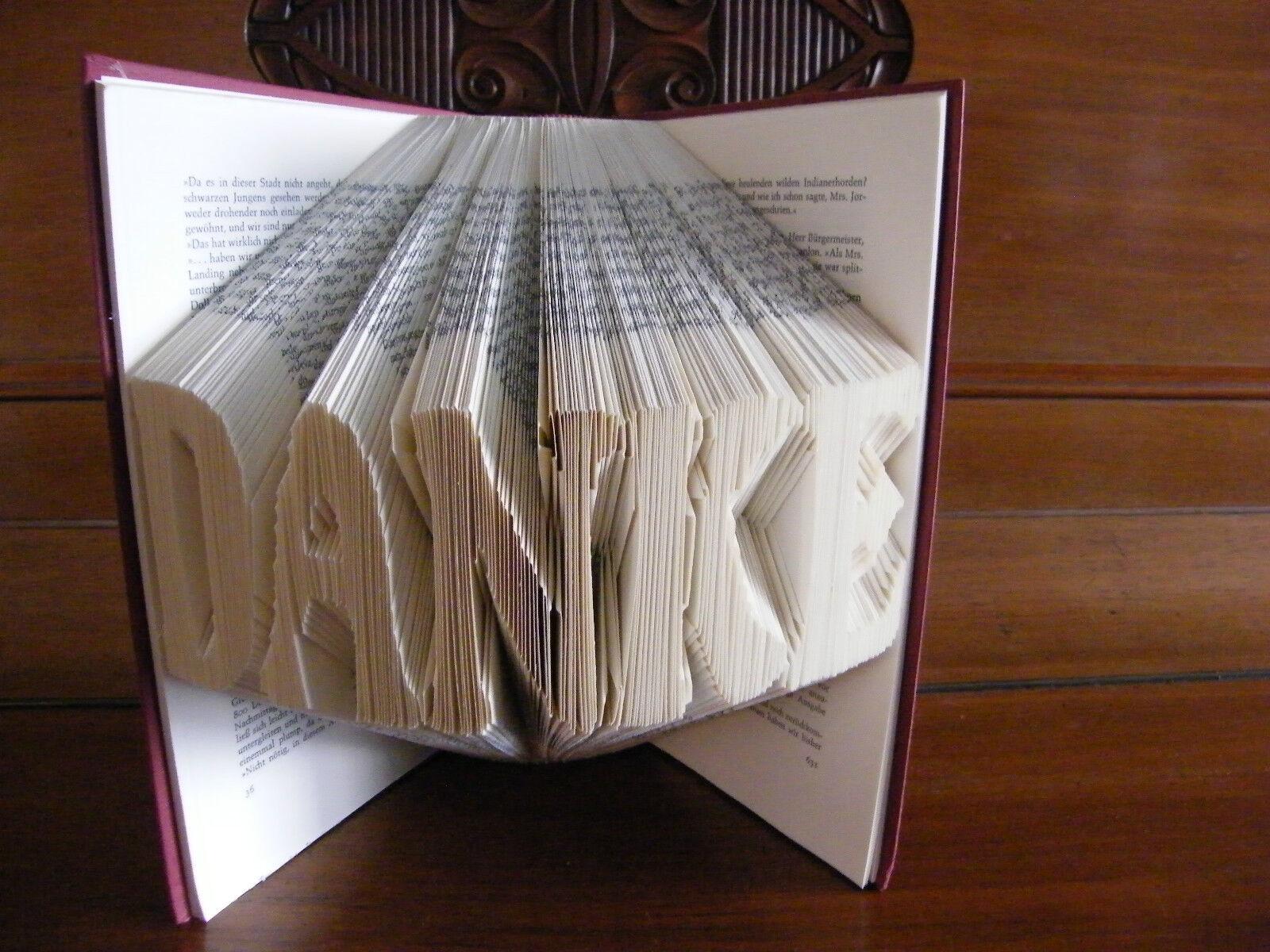 Buchkunst Buch Falten Kunst Geschenk Taufe Hochzeit Geburtstag  Danke  | Wonderful  | Auf Verkauf