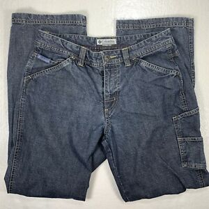 Columbia-Womens-Jeans-Size-6-Short-Blue-Pants-Sportswear-Pockets-Straight