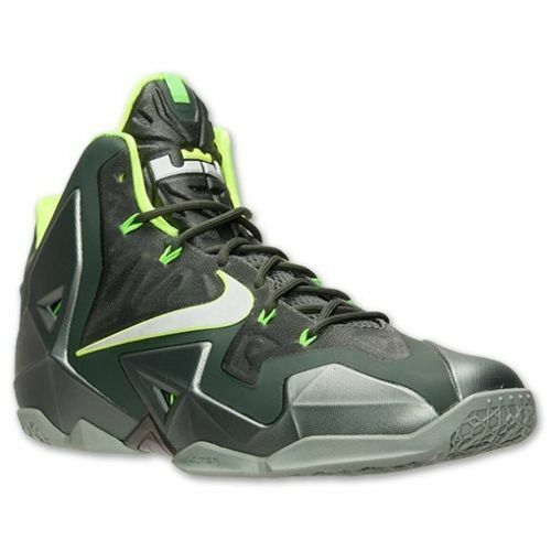 NEW Nike Men's Lebron Xl Basketball Shoes Mica Green/Sea Spray/Volt 616175-300**