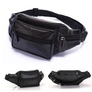 Men-039-s-Leather-Waist-Fanny-Pack-Bum-Adjustable-Belt-Bag-Pouch-Travel-Hip-Purse