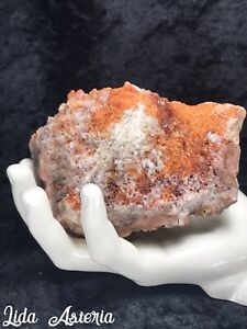 5-1-2Lb-Quartz-Geode-Specimen-Natural-Inclusions-Orange-Red-White-Druzy-Crystal