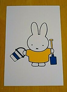 039-WITH-LOVE-FROM-MIFFY-039-POSTCARD-MIFFY-WITH-HER-BUCKET-AND-SPADE-DICK-BRUNA