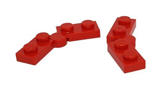 Lego 2 Paar Scharnier 2429 2430 Gelenk 1x4 rot 1x2 Klappscharnier