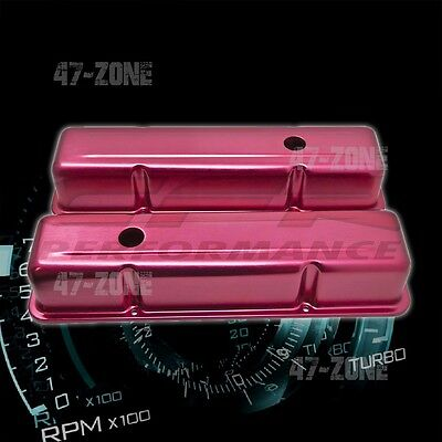 BLUE ALUMINUM STAMPED OE STYLE TALL VALVE COVERS CHEVY SB 283 305 327 350 400