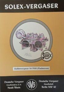9-Stk-SOLEX-Vergaser-Reparatur-Mercedes-Benz-DB-190-SL-Ponton-44-PHH-handbuch