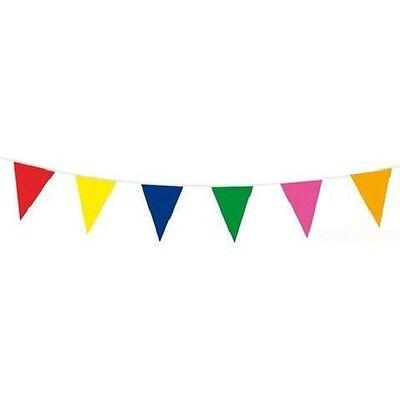 10 m Wimpelkette Wimpelgirlande Bunt Party Geburtstag/ NEU