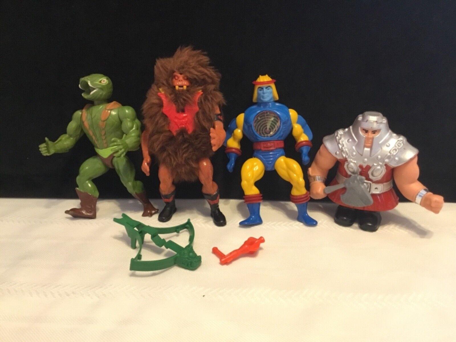 M.o.t.u. actionfiguren menge 4 kobra khan ram mann grizzlor syklone (g98)