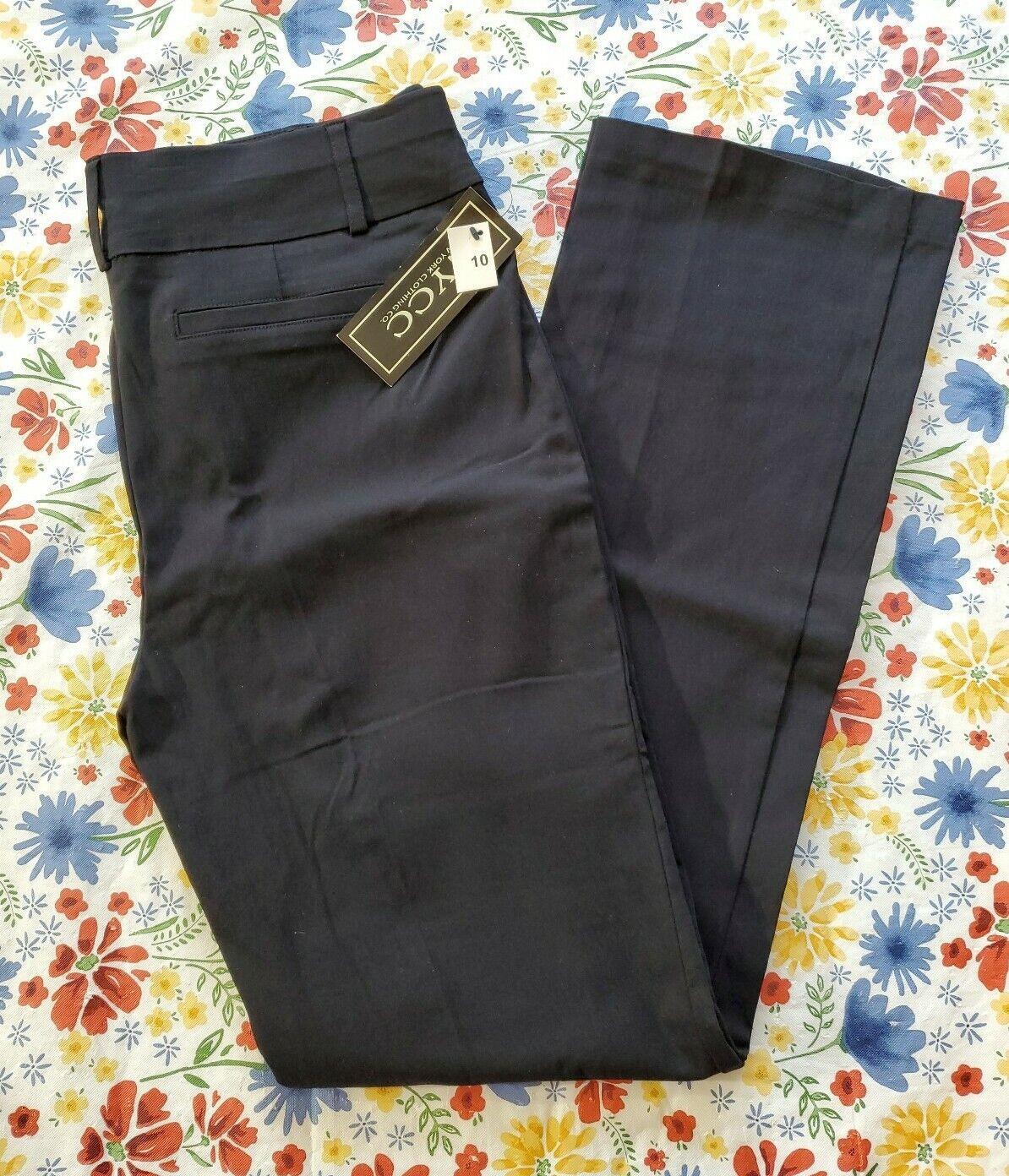 NYCC SIZE 10 WOMEN'S BLACK PULL-ON BOOTCUT DRESS PANTS