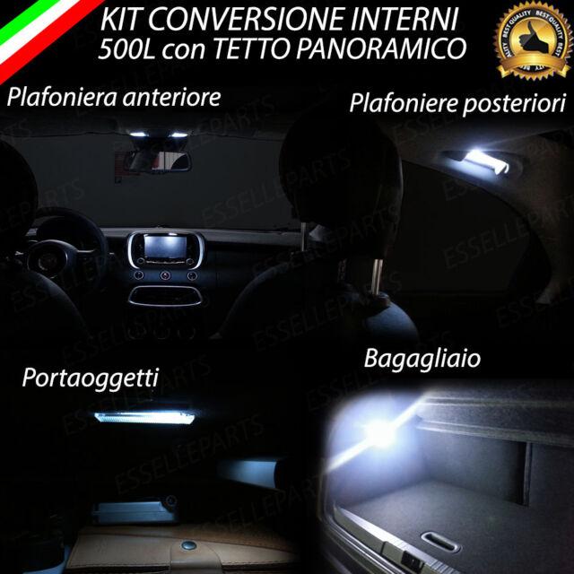 KIT FULL LED INTERNI FIAT 500L CONVERSIONE COMPLETA CANBUS NO ERROR