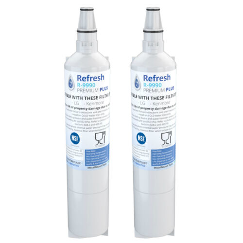 Fits LG LFX25950SW Refrigerators 2 Pack Refresh Replacement Water Filter
