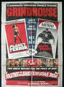 GRINDHOUSE-Original-One-sheet-Movie-Poster-Death-Proof-Planet-Terror