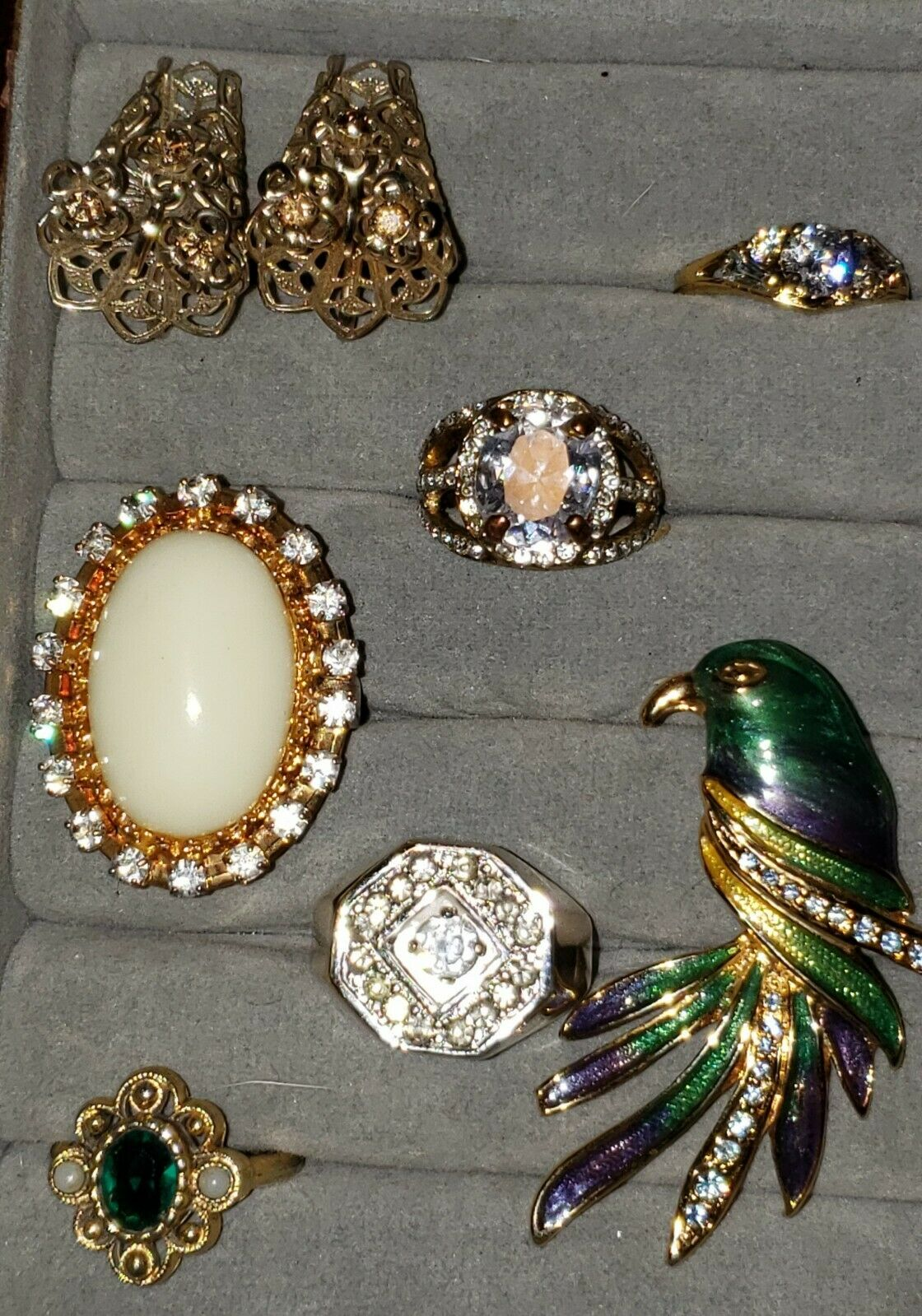 Vintage  Costume Jewelry Lot With Arnold Scaasi C… - image 5