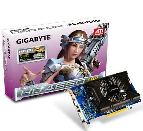 ✔ new Gigabyte HD4650 GV-R465D2-1GI AGP 1GB RARE videocard with HDMI port!!