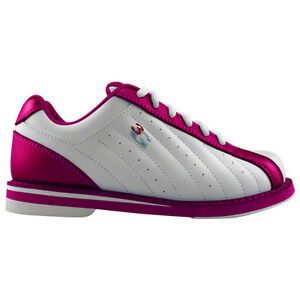 3G Women's Kicks Bowling Shoes (6.5 White/Pink)