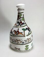 Crown Staffordshire Hunting Scene Decanter with Stopper