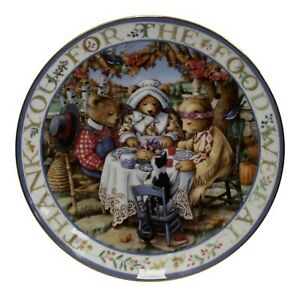 Royal-Doulton-China-Thankful-Teddies-Limited-Edition-Plate-Number-MA1583