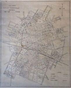 Thomasville Georgia Map.Block Map Of The City Of Thomasville Georgia C E Layton 1946 Ebay