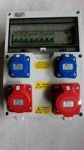 5 Pin CEE Industrial Red Socket.Distribution board 400V 3phase 16A or 32A 4Pin
