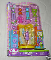14 Pc Polly Pocket Backstage With Polly Playset Set 2003 B7115