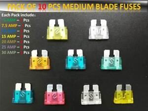 80 Pièce Voiture//Van Mini Blade Fuse Kit 2-5 7.5-10 15-20 25-30 Amp