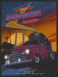 Alabama-Shakes-Courtney-Barnett-Cary-NC-2015-Concert-Poster-Art-Vance-Kelly