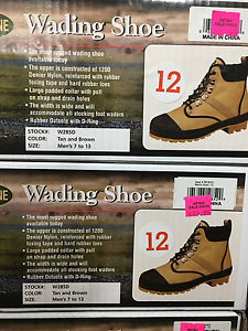 NEW PRO LINE WADING BOOTS SHOES W285D MEN/'S 12 50/% OFF AMAZON PRICE !
