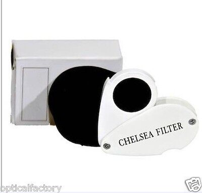 GIA TOOLS Loupe Black Color Chelsea Filter for testing Gemstone Gems,Testing