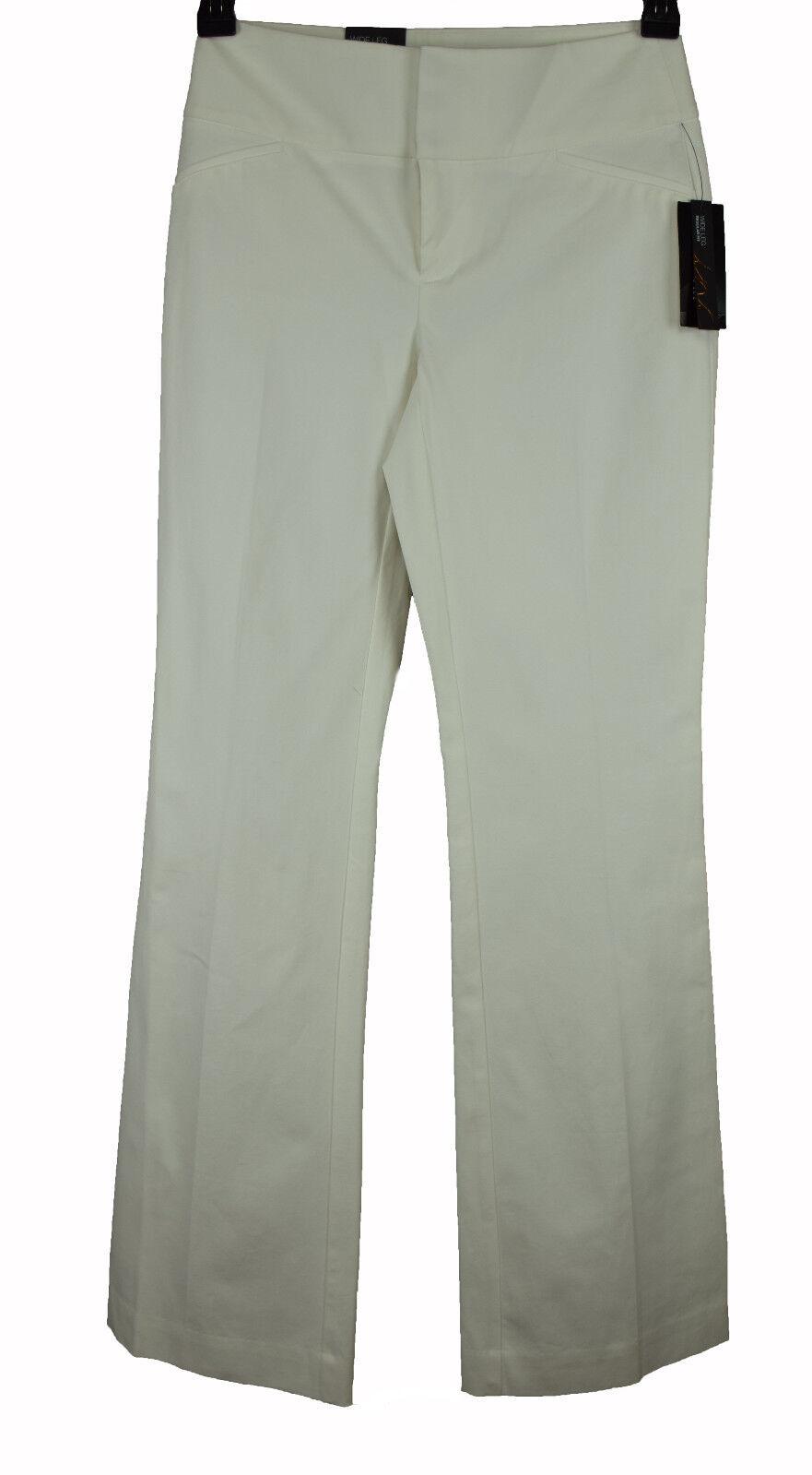 INC Womens White Wide Leg Regular Fit Trousers Pants 6 8 10 16