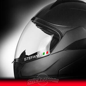 4-adesivi-CASCO-2-NOME-PERSONALIZZATO-2-BANDIERA-ITALY-adesivo-stickers