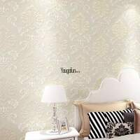 Top Sell 10m Wall Paper 3d Wallpaper Roll Damask Non-woven Embossed Textured Us