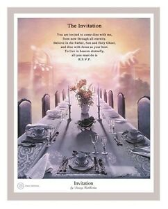 Danny Hahlbohm The Invitation 20x16 Matted Print English Poem Table