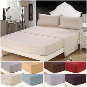 soft king size 4 piece bed sheet set bedding sets 1800 thread count deep pocket. Black Bedroom Furniture Sets. Home Design Ideas