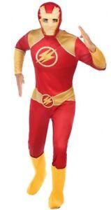 Deguisement-Homme-Hero-Comics-FLASH-Rouge-XL-Cinema-Television-NEUF-Pas-cher