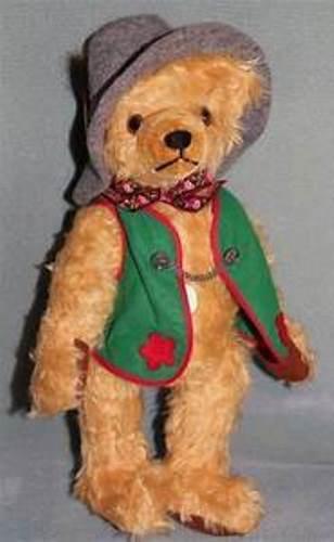 VERY RARE- HERMANN-GERMANY- OKTOBERFEST BEAR 1995-BLOND MOHAIR- LIMTED EDITION