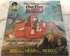 Disneyland (1981) The Fox And The Hound Book And Record Set 33 1/3 RPM Disney