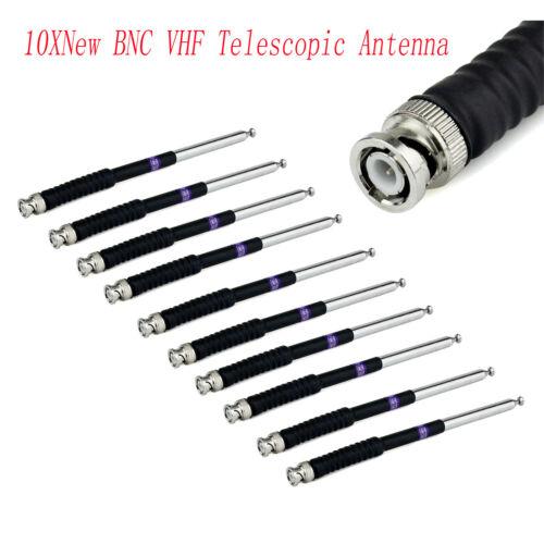 10XNew BNC VHF136-174MHz Telescopic Antenna for Kenwood ICOM V8 V80 IC-U82 Radio